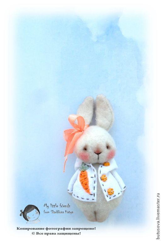 ПОЛЛИ. Пасхальный кролик-БРОШЬ. - бежевый,заяц,кролик,зайка,кролики,крольчонок