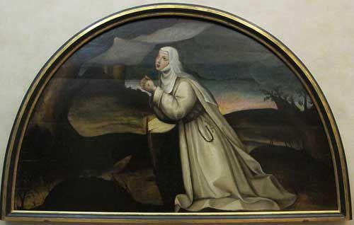Suor Plautilia de' Nelli, Santa Caterina riceve le stimmate