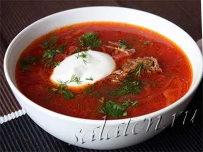 Рецепт приготовления борща со свеклой и свежей капустой, с подробными пошаговыми фото.
