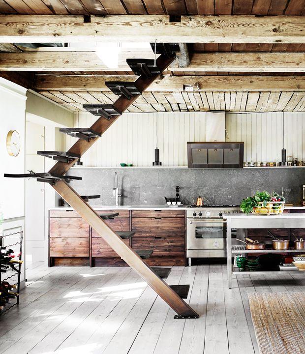 Une maison entre pastel et style ethnique au Danemark