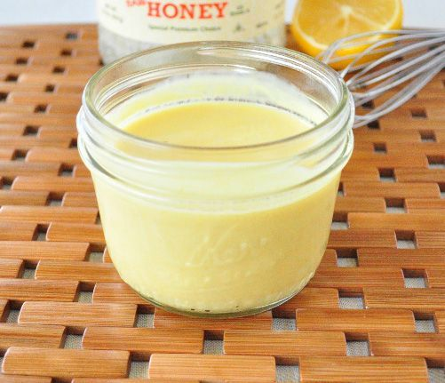 Healthy Honey Mustard Dressing.  Say goodbye to store bought forever.  This recipe is all you need.  It's healthy, easy and you probably already have the ingredients to make it! #saladdressing #honeymustard #dressingrecipe