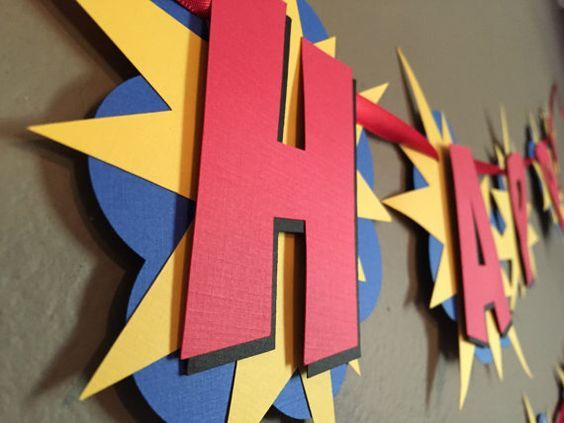 Superhero Birthday Banner by modestedge on Etsy: