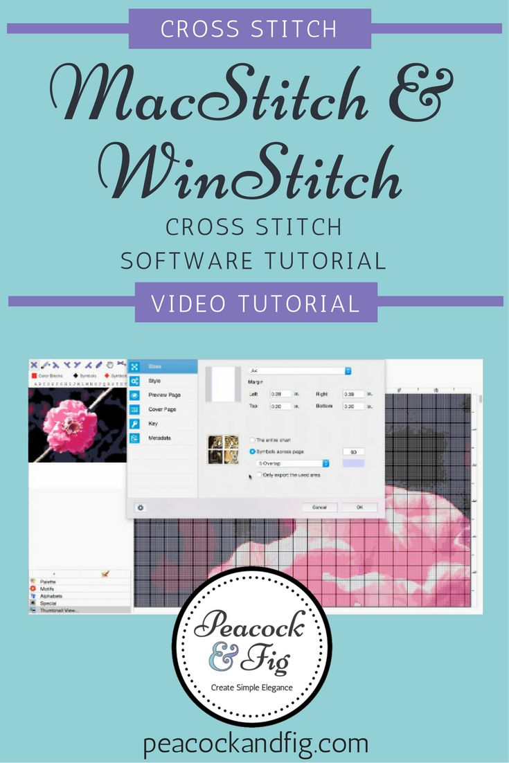 MacStitch cross stitch software tutorial