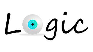 Lógica, Ojo, Gráfico, Logo, Azul
