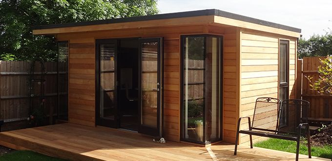 Garden office buildings home insulated garden offices for Cedar garden office