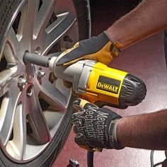 Fast Tire Changes With an Electric Impact Wrench - 14 Cool Auto Shop Tools You Need: http://www.familyhandyman.com/automotive/car-maintenance/cool-auto-shop-tools-you-need