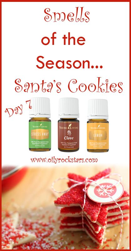 "Today's scent is called ""Santa's Cookies."" Who doesn't love the taste and smell of cookies at Christmas time. It's a family tradition in our house to make cut out cookies every year. Next Saturday is the big day this year. We all pile in at my mom's house. Then we bake and decorate up a storm. After, we make special deliveries to our loved ones :) It's a great way to spread Christmas cheer and spend time as one BIG family!! #essentialoils #christmas"