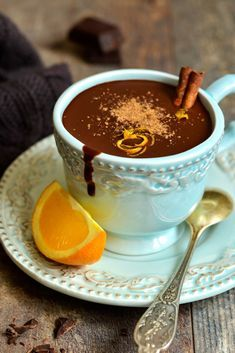 Velvety dark chocolate and zesty orange flavor set this healthy hot cocoa recipe apart. It's the perfect metabolism-boosting recipe for cold weather! Get this gluten free, dairy free, low sugar protein drink recipe now..