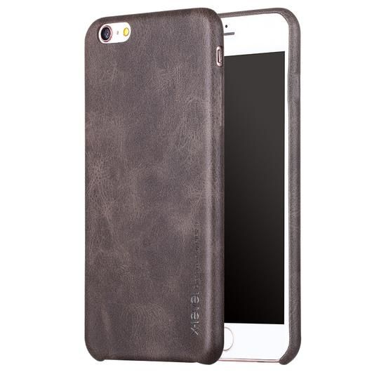 Coffee Thin Leather iPhone Back Case