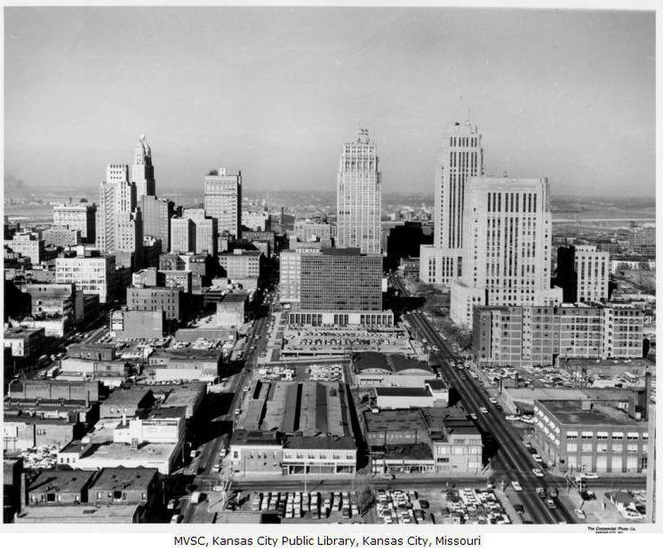 Aerial View of Downtown Kansas City 1960s | KC | Missouri ...