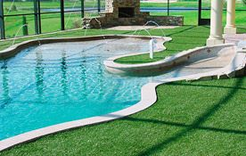 Avoid the annoyance of littering the clear water of your swimming pool with grass blades and lay artificial grass as an alternative. Get the sensation of stepping out onto freshly cut summer grass all year round. For great quality grass at unbeatable prices, check out our website www.artificiallandscapes.co.uk