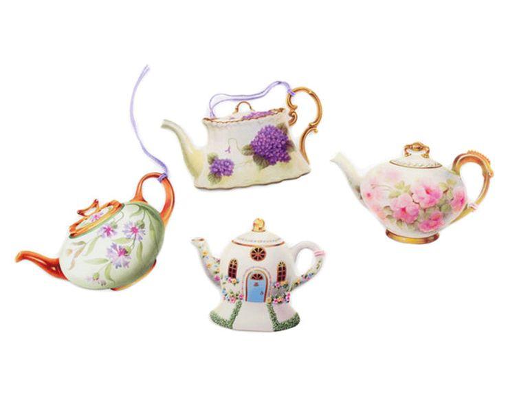 Presentetiketter Tekoppar. Gift Lables Teapot
