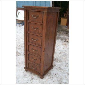 Tall skinny dresser reclaimed wood tall narrow highboy for Skinny dressing table