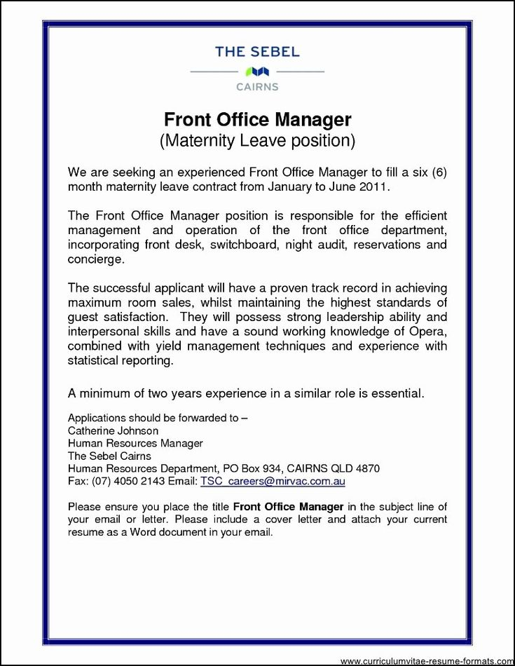 20 Front Office Manager Resume in 2020 (With images