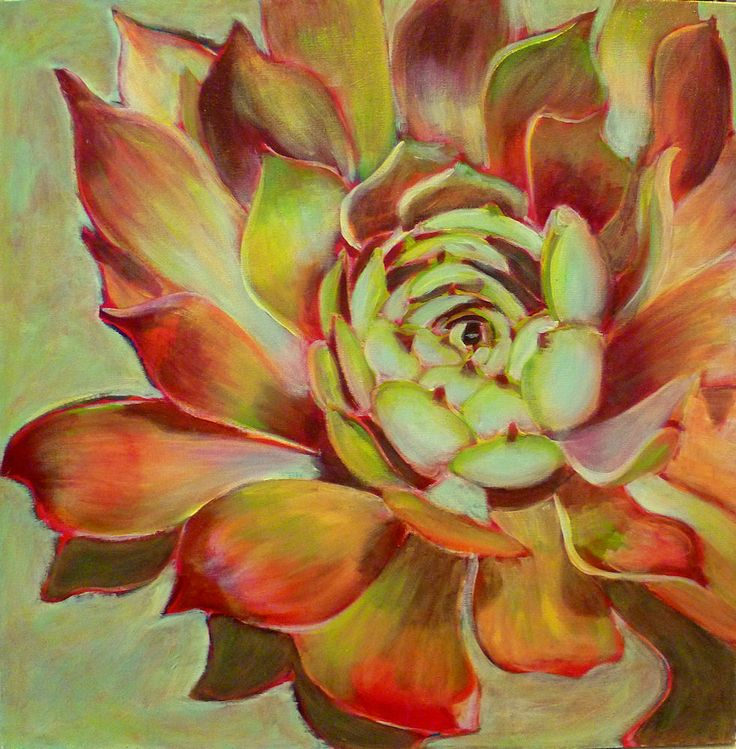 """Hens and chicks, acrylic on canvas step by step demonstration!"""""""
