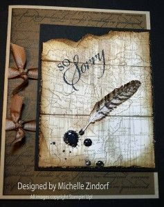 Ink & Quill – Stampin' Up! Card