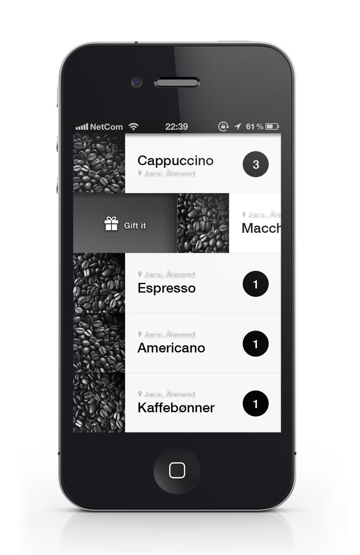 coffe iphone app