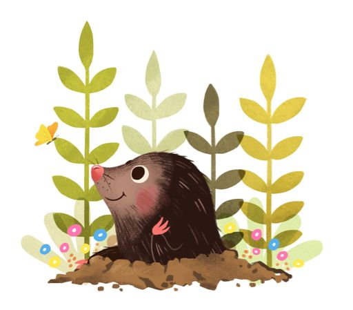 Mole Illustration from 'kiwiwublr.tumblr.com' Kiwi <3CUTE<3