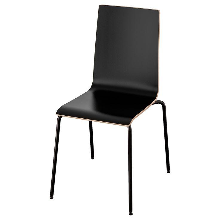 MARTIN Chair, black, black   IKEA   Dining chairs, Ikea, Chair