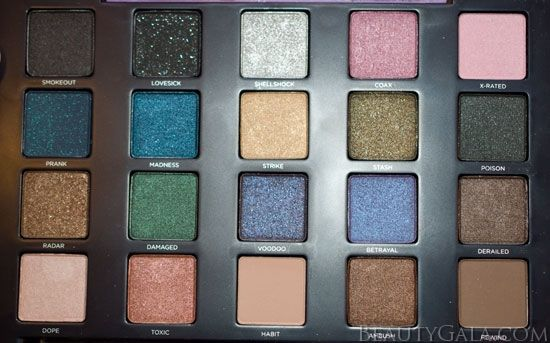 @Nella Giannandrea i like this better than naked!! Urban Decay Vice 2 Palette Swatches