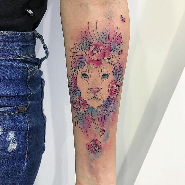 Escritas delicadas - Blog Tattoo2me | Tatuagens, Tatuagem aquarela leão, Tatuagens bonitas