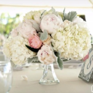 Peony Hydrangea Centerpiece Love Pinterest Wedding Flowers And Centerpieces
