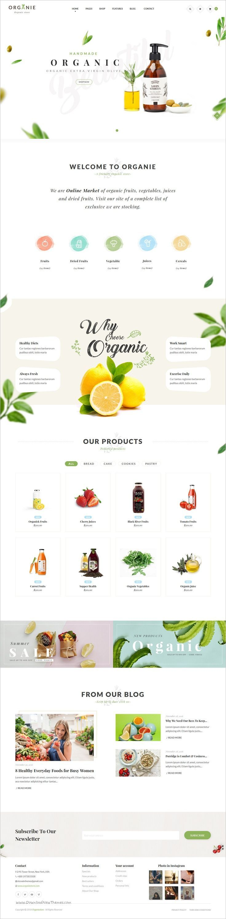 Organie is a wonderful responsive 12in1 #Prestashop theme for stunning #organic #store eCommerce websites with advanced admin module, extremely customizable download now➩ themeforest.net/...
