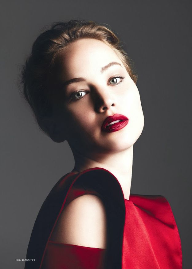 she's gorgeous. As well as in color. | See Jennifer Lawrence's Beautiful New Harper's Bazaar Photo Shoot In Full
