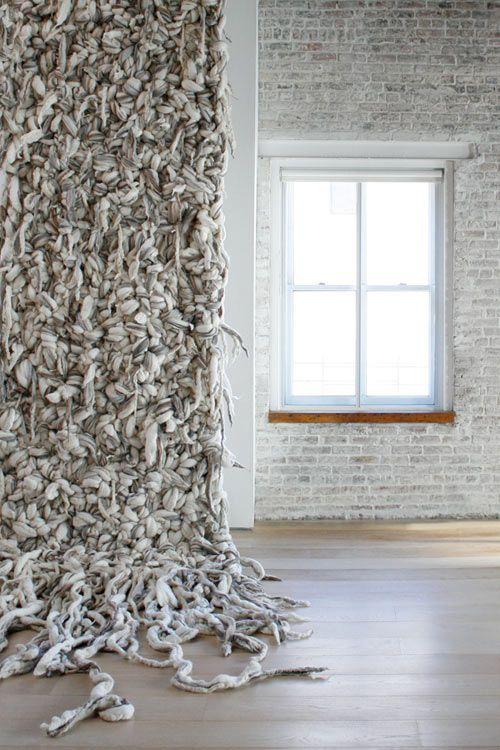 UNSPUN: Tangled & Fused by Dana Barkes. Fibre Wall.