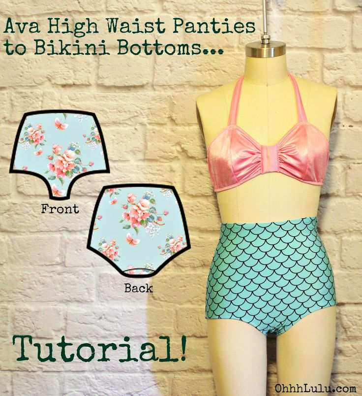 Ohhh Lulu...: Ohhh Lulu Pattern Hacks: Ava High Waist Panties to Retro Bikini Bottoms
