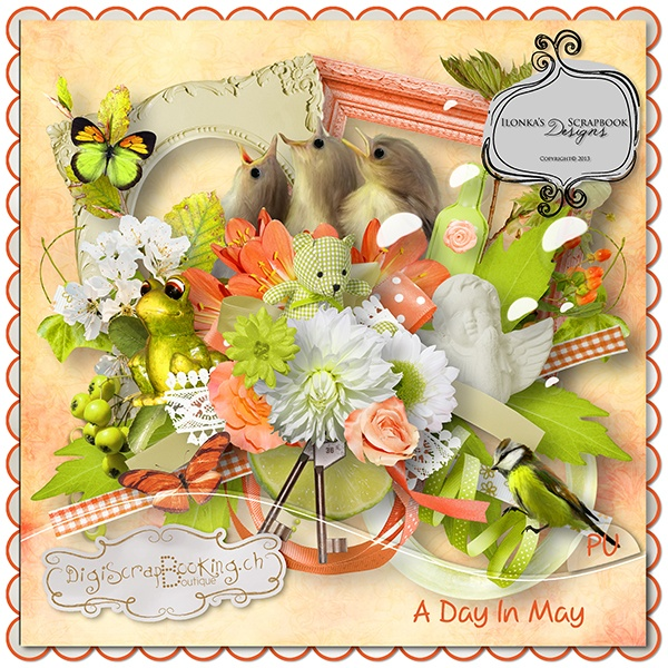 *** NEW ***  A day in may by Ilonka's Scrapbook Design http://www.digiscrapbooking.ch/shop/index.php?main_page=product_info=22_188_id=10962