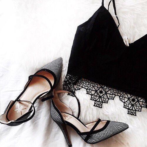 grafika fashion, heels, and black