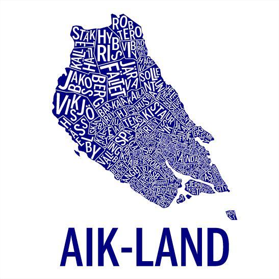 AIK-land i färgen marinblå