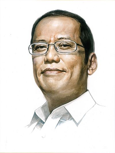 President of the Philippines Aquino III  Portrait oil painting-TOP hand painted oil painting --Originally -free shipping cost