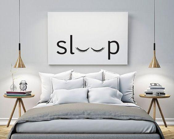 sleep Bedroom Printable Poster Typography di POSTERityDesigns