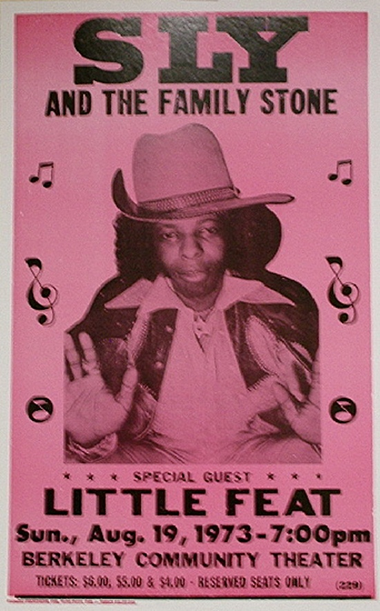 Sly The Family Stone and Little Feat, Berkeley Community Theater, August 1973