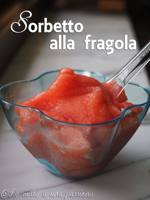 #Sorbetto alla #fragola #Strawberry #sorbet  #fresh