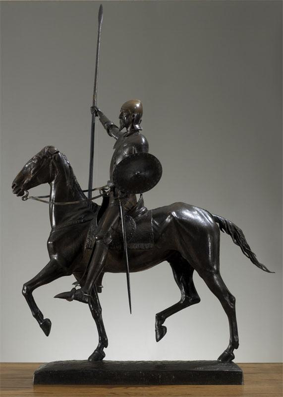 Don Quixote Man de La Mancha: The Knight of the Windmill, Cyrus Dallin. 1898. Located at Springville Museum of Art.