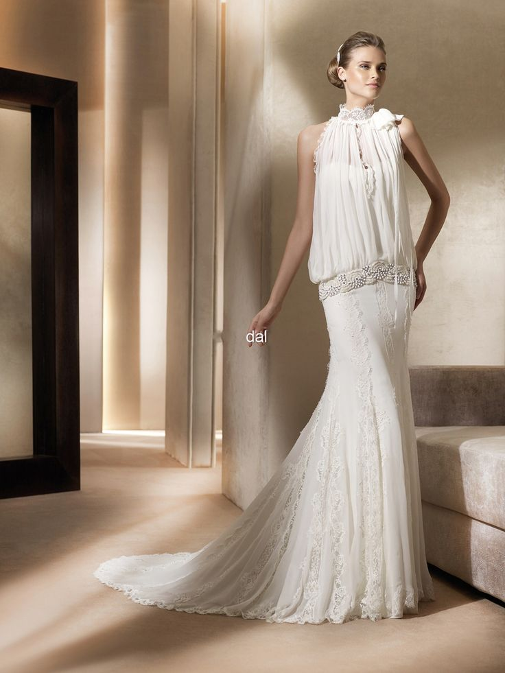 wedding dresses with drop waist line - Google Search