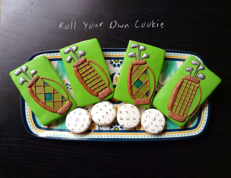 Golf cookies by Roll Your Own Cookie