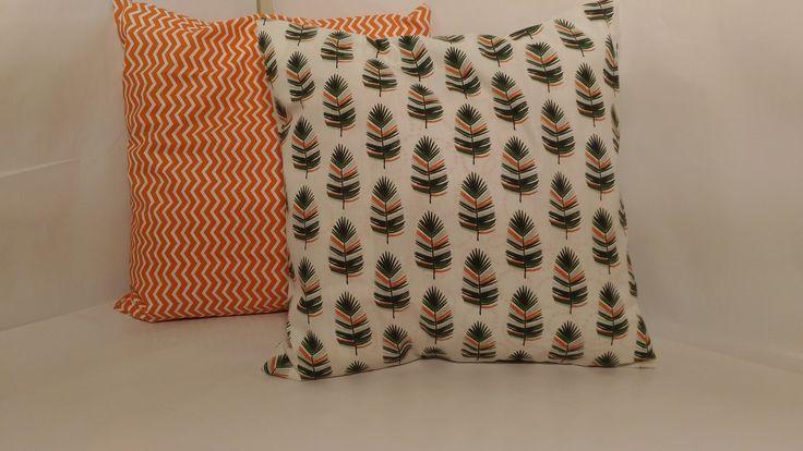 Lot de deux housses de coussin 40x40 : Textiles et tapis par tissusandco