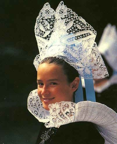 Traditional costume of Finistere in the Brittany region of France.