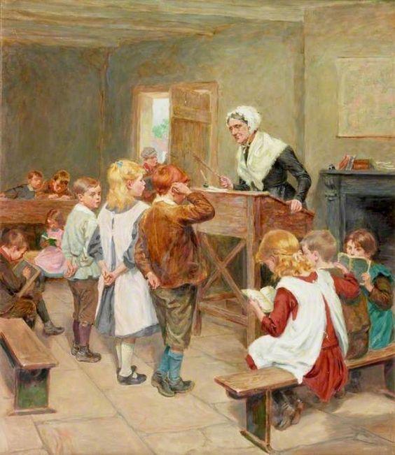 """Resultado de imagen para Nikolay Bogdanov-Belsky. pintor ruso: """"En la puerta de la escuela"""""""
