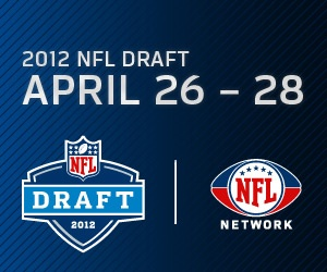 2012 NFL Draft 4/26 to 4/28 on NFL Network - thinking my Eagles are going to make a cool calculating move.