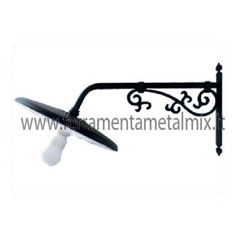 Lanterne Lampade Plafoniere a parete con braccio per illuminazione arredo giardino esterno mod. TRASTEVERE - Ferramenta MetalMix