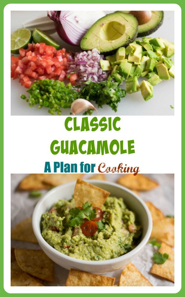 Classic Guacamole - A Plan for Cooking | Food and recipes ...