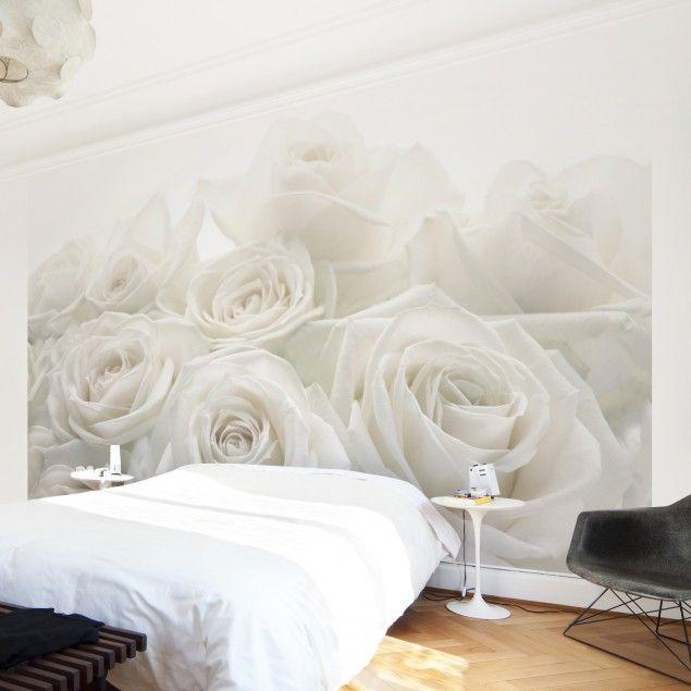 #Vliestapete Premium - #Blumentapete #Rosenhochzeit #Fototapete Breit #Rose #Rosen #Rosengarten #Blumen #Dornen #Liebe #Wandgestaltung #Dekoidee