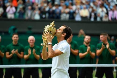 Roger Federer, Wimbledon, July 2017