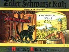 Zeller Schwarze Katz Wine Label
