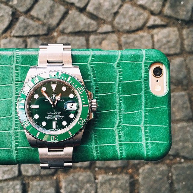 Go Green with Hursy  #luxury #rolex #green #gogreen #accessories #iphone #greeniphonecover #style #fashion #class #hursy